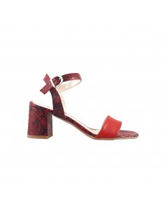 SANDALO DONNA PELLE C/FIBIA MADE IN ITALY